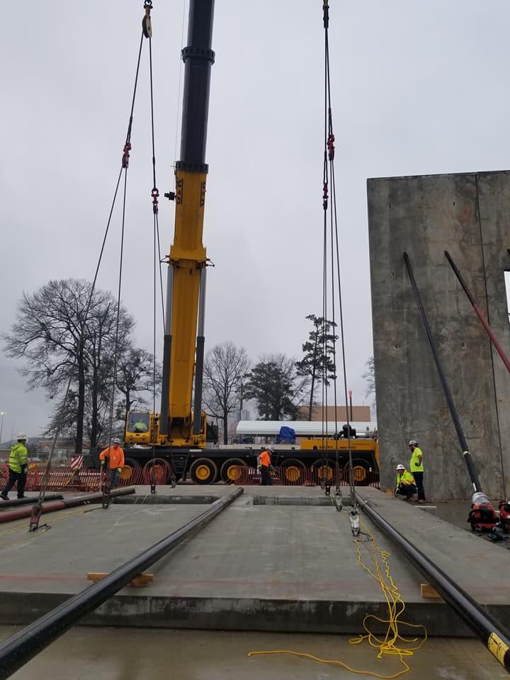 Georgia Pacific Concrete Tilt Up Panel Erection Dunn Building Company